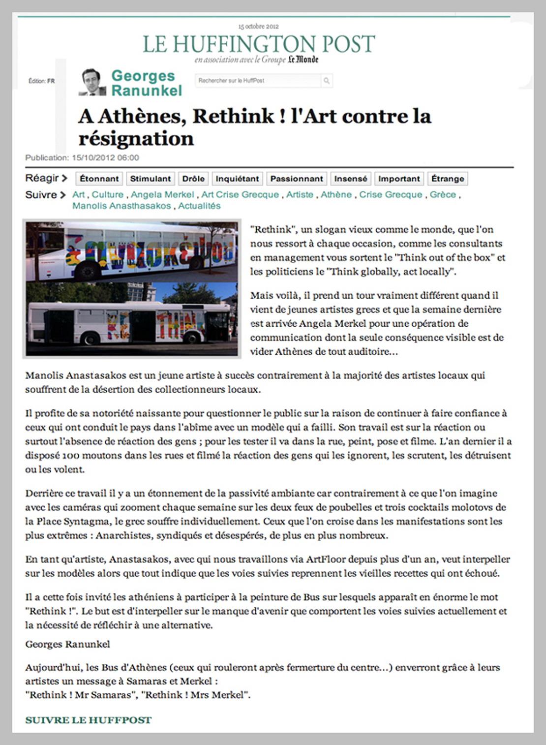 Le Huffington Post 2012